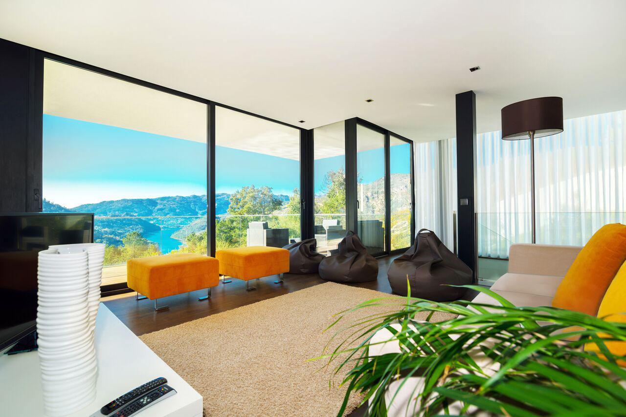 alugar casa luxo geres sala